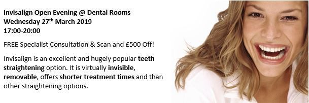Invisalign Open Evening – Weds 27 March – FREE Specialist Consultation & Scan and £500 Off!*